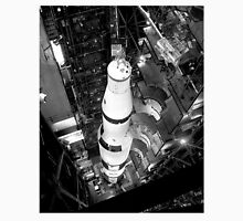 Vintage Black and White Photograph of Saturn V Unisex T-Shirt