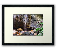 Little Waterfalls Framed Print