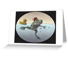Frog and Duck Greeting Card