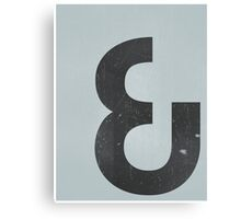 """And"" Ampersand Canvas Print"