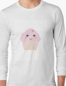 Kawaii Heart Cupcake Long Sleeve T-Shirt