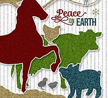 Barnyard Animals | Peace on Earth Christmas by Doreen Erhardt