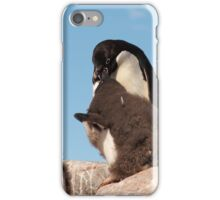 "Adelie Penguin and chicks ~ ""and WHEN do I get fed!!"" iPhone Case/Skin"