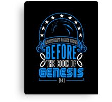 Before The Book Of Genesis (Sonic Legendary Gamer) Canvas Print