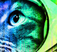 Astronaut Space Cat (digital rainbow version) Sticker