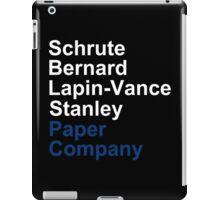 Schrute Bernard Lapin-Vance Stanley - White  iPad Case/Skin