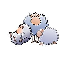 flock of woolly sheep by Roy Isaacs