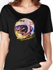 Astronaut Space Cat (deep galaxy version) Women's Relaxed Fit T-Shirt