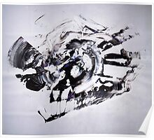 COLD & White 2 - New Year BIG Monochromatic Original mixed media painting Poster