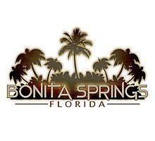 Bonita Springs Florida palm tree design Photographic Print