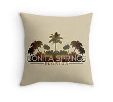 Bonita Springs Florida palm tree design Throw Pillow