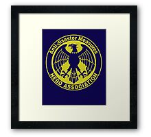 one punch man - hero association ORG Framed Print