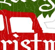 Merry Christmas 4x4 (vintage look) Sticker
