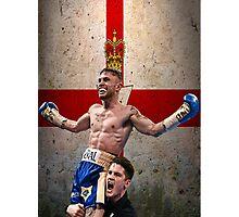 Carl Frampton Boxing World Champion Northen Ireland Flag Photographic Print