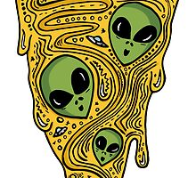 Alien Pizza by teejayseadub