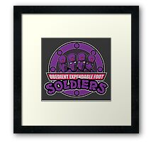 Obedient and Expendable Framed Print
