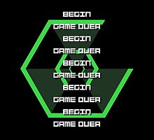 Begin, Game Over [Super Hexagon] - green by maurrokh