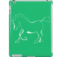 Horse or pony in white for dark materials. iPad Case/Skin
