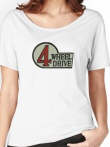 Toyota FJ40 Land Cruiser Four Wheel Drive Emblem Women's Relaxed Fit T-Shirt
