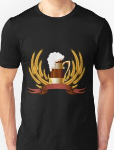Beer mug cereal ears and banner for your text T-Shirt