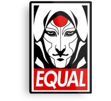Equal Metal Print