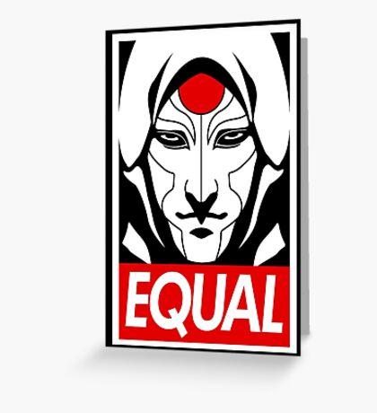 Equal Greeting Card