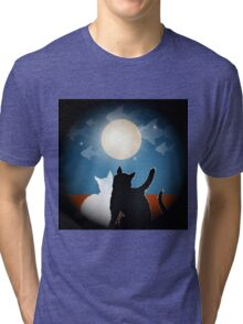 dreaming cats on a roof Tri-blend T-Shirt