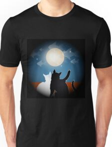dreaming cats on a roof Unisex T-Shirt