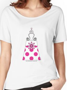 The Katy Bag / Pink Peppermint Polka Dot Women's Relaxed Fit T-Shirt
