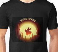 Wild West theme with desert rider Unisex T-Shirt