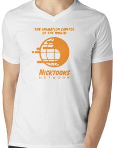 Nicktoons Network Mens V-Neck T-Shirt