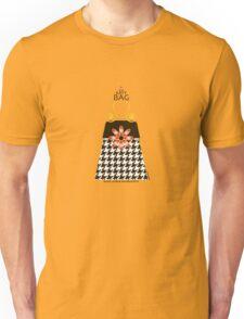 The Katy Bag / Black Licorice Houndstooth Unisex T-Shirt