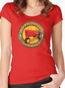 Massey Harris vintage tractors Women's Fitted Scoop T-Shirt