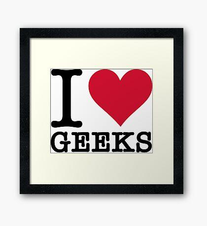I Love Geeks Framed Print