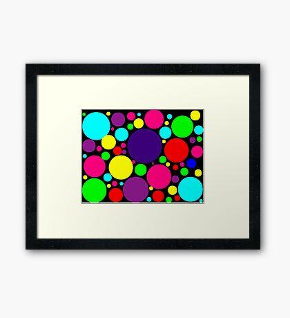 Multi-Colored Bubbles Framed Print