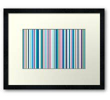 Multi-Colored Stri Blues Framed Print