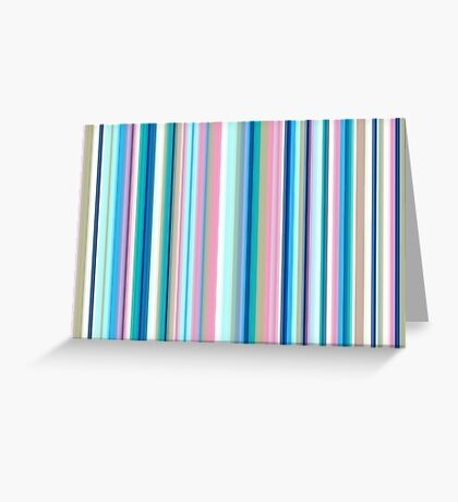Multi-Colored Stri Blues Greeting Card