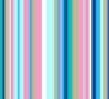 Multi-Colored Stri Blues Sticker