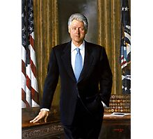 Official Presidential Portrait Bill Clinton Photographic Print