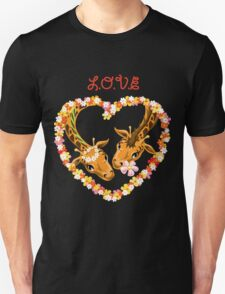 Giraffes in love Unisex T-Shirt