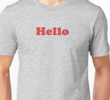 Hello T-Shirt Sticker Unisex T-Shirt