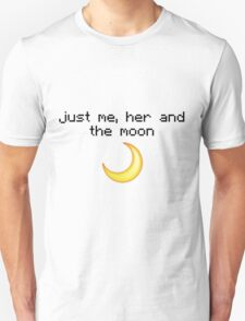 Just me, her and the moon Emoji Design  Unisex T-Shirt