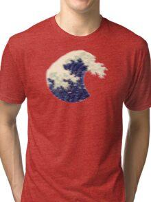 Triangular Pixel Wave Tri-blend T-Shirt