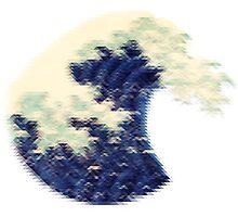 Triangular Pixel Wave Photographic Print