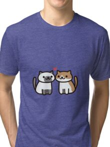 Neko Atsume- Kitty Love Tri-blend T-Shirt