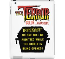 The terror title poster iPad Case/Skin