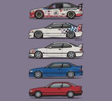Stack of BMW 3 Series E36 Coupes Kids Clothes