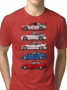 Stack of BMW 3 Series E36 Coupes Tri-blend T-Shirt