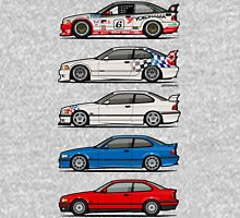 Stack of BMW 3 Series E36 Coupes Unisex T-Shirt