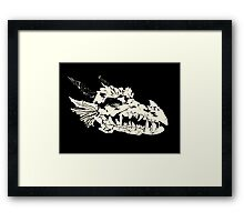Ancient Dragon Skull Framed Print